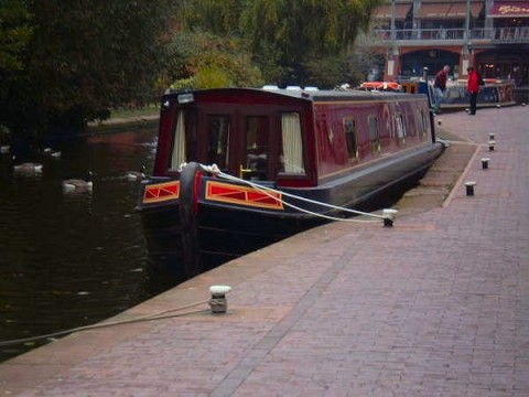 Canal Boat at Gas Street Basin
