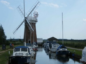 Moored up on the Norfolk Broads