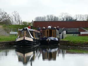 Two Boats leaving a Lock