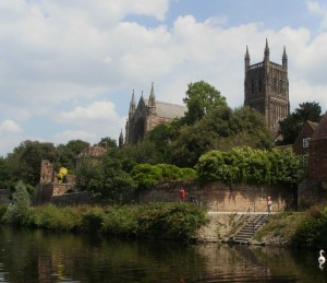 Worcester Cathedral from the Waters