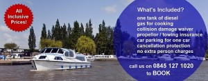 All Inclusive Norfolk Broads Boat Hire