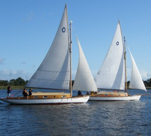 Sailing Yachts on Barton Broad