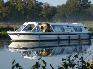 Norfolk Broads boating holiday cruiser