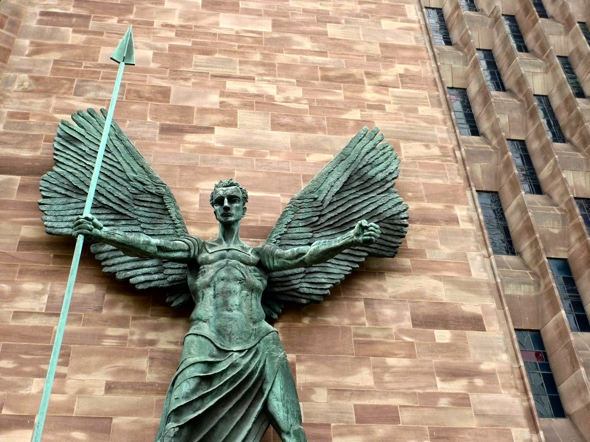 St Michael statue , Coventry Cathedral