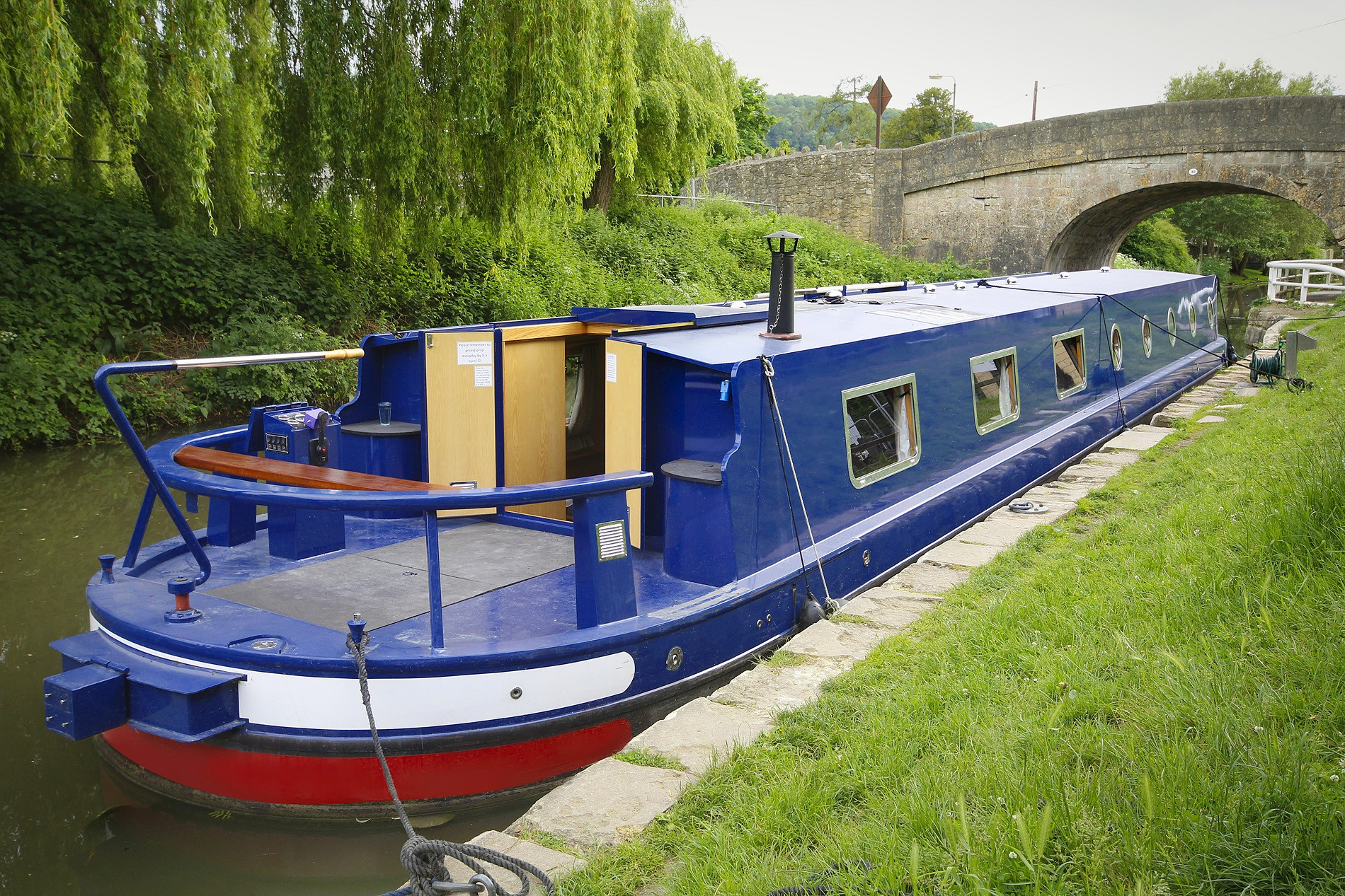 Widebeam boat near Bathampton