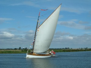 Traditional sailing wherry charter