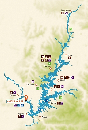 Grande Lago Portugal map