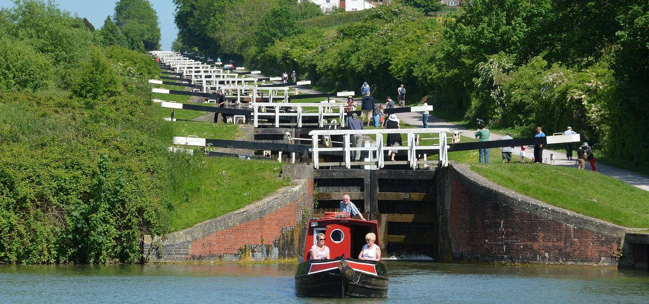 Locks on the canal