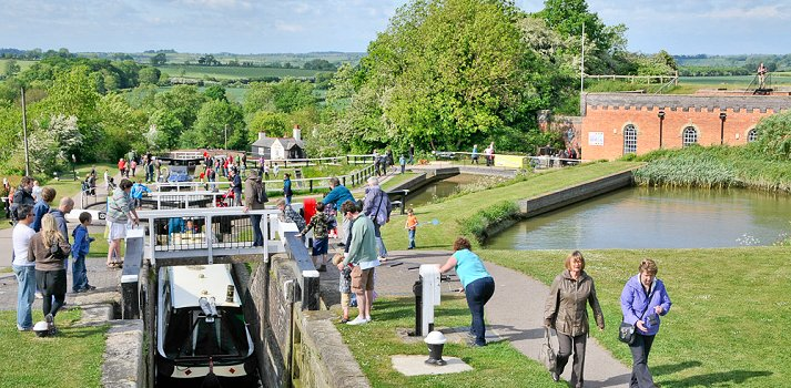Foxton locks canal boat holiday