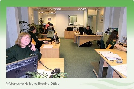 Waterways Holidays Booking Boating Holidays Booking Office