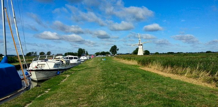 Norfolk Broads Boat Hire picturesque skies