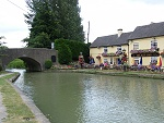 Moor your hire boat by a canalside pub