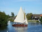 sailing yacht on the Broads