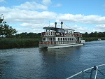 Southern Comfort Paddle Steamer at Horning on the Norfolk Broads