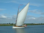 Sailing yachts on the Broads